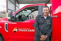 Pilot Flying J employee with truck