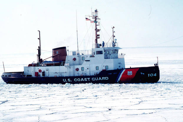 Coast Guard Works to Free Vessels Stuck in Ice