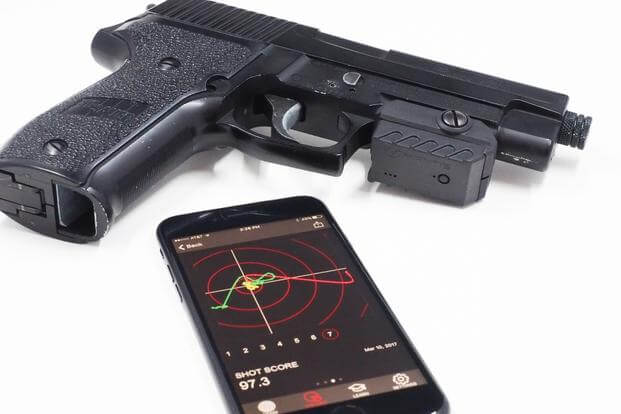 Rolera LLC, a closely held company based in Oswego, Illinois, has released the MantisX, a device designed to attach to the rail of any pistol to track a shooter's movements and sync the data to his or her mobile phone. (courtesy photo)