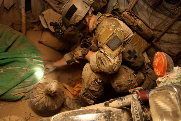 An Afghan and coalition security force seized more than 40 pounds of opium during an operation to capture a Taliban commander in Panjwa'i district, Kandahar province, Afghanistan July 4, 2012. (Department of Defense photo/U.S. Army Spc. Pedro Amador)