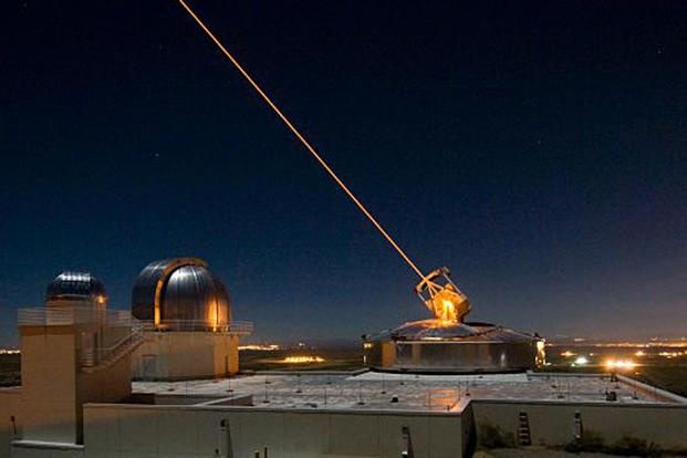 The Sodium Guidestar at the Air Force Research Laboratory's Starfire Optical Range resides on a 6,240-foot hilltop at Kirtland Air Force Base, N.M. The Army and Navy are developing their own laser weapons systems. Air Force photo