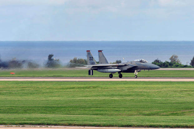 US F-15 fighter jet crashes into sea off Okinawa, pilot rescued