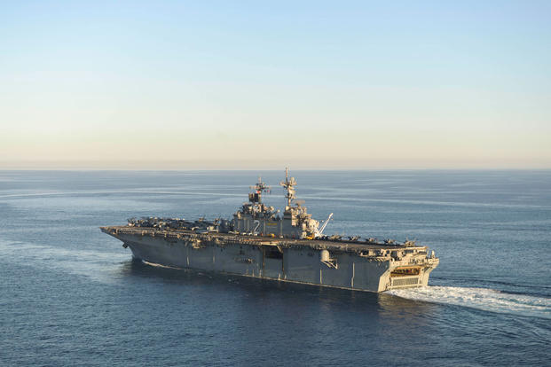 Search continues for US Marine reported overboard near Philippines