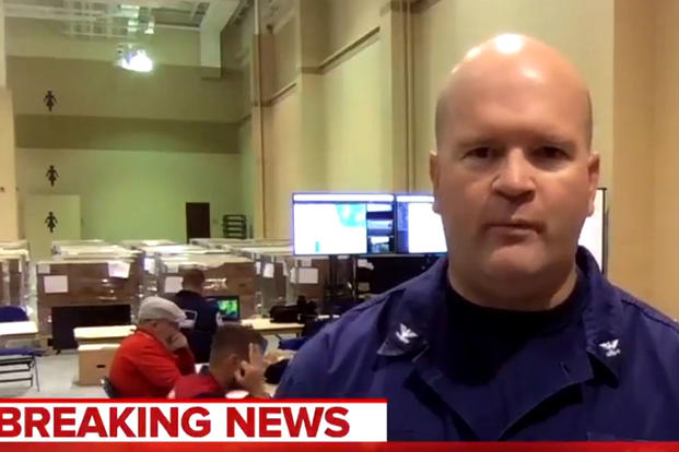 "The U.S. Coast Guard ""removed"" a member from its Hurricane Florence response team on Friday after he made an ""OK"" hand gesture on live television that the agency deemed ""offensive."""
