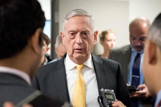U.S. Secretary of Defense James N. Mattis speaks to reporters at the Pentagon in Washington D.C. Nov. 21 2018