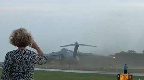 C-17 Takeoff on Small Airport Runway