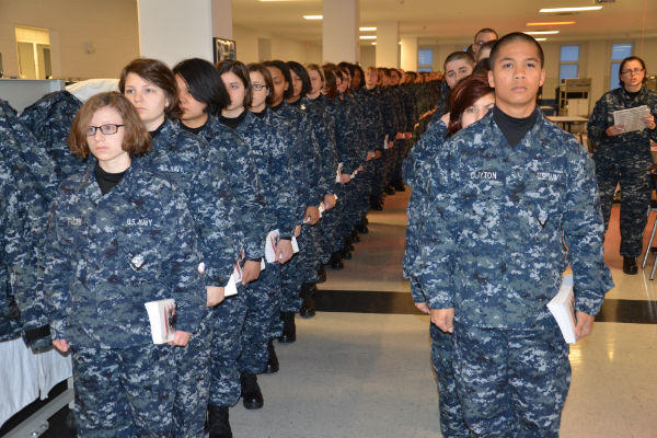 Recruits at Navy Recruit Training Command