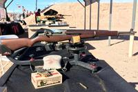 Winchester Ammunition used a vintage M1 Garand rifle at SHOT Show 2018 Range Day to showcase its new Wood Box Series of World War II ammo. (Matthew Cox/Military.com)