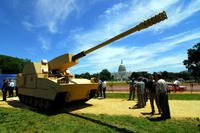 Prototype 1 of the Non-Line of Sight Cannon was unveiled June 11, 2008 on the National Mall in Washington, D.C. The weapon was part of the Army's Future Combat Systems modernization program -- cancelled in 2009. (US Army photo/C. Todd Lopez)