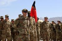 The U.S. Army's 1st Security Force Assistance Brigade (SFAB), which continues to train, advise and assist the Afghan National Defense and Security Forces (ANDSF), marked its one-year anniversary with a patching ceremony. (NATO/Erickson Barnes)