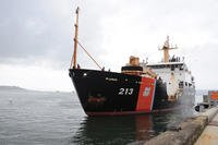 The crew of the Coast Guard Cutter Fir, a 225-foot seagoing buoy tender, returned to homeport at Coast Guard Base Tongue Point in Astoria, Ore., Oct. 22, 2010, after a four month deployment in support of Deepwater Horizon in the Gulf of Mexico. (U.S. Coast Guard photo/Kelly Parker)
