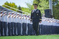 Lieutenant General Robert L. Caslen Jr., U.S. Military Academy Superintendent, enters Michie Stadium before the 2017 graduation ceremony at West Point. (U.S. Army photo/Michelle Eberhart)