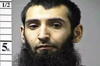 Undated booking photo of Sayfullo Saipov, charged with murdering eight people on a New York City bike path and injuring many more. (St. Charles County, Missouri Department of Corrections photo)