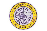 The 2018 Military Brat patch is free for military kids. (Army and Air Force Exchange Service)