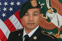 Sgt. 1st Class Reymund Transfiguracion, with 3rd Battalion, 1st Special Forces Group (Airborne), died Sunday following wounds sustained during an Aug. 7 patrol in Afghanistan's Helmand province. (Army photo)