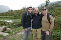 Jason McCarthy, Richard Rice and their partner in design/adventure Paul Litchfield, in Vietnam. (Courtesy Photo)
