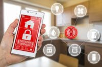 Home security management app on phone