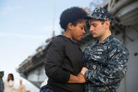 A Sailor assigned to USS Kearsarge hugs a loved one before departing Naval Station Norfolk on a regularly scheduled deployment. (U.S. Navy/Mass Communication Specialist 1st Class Chad Runge.)