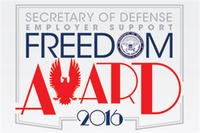 Secretary of Defense Employer Support Freedom Award 2016 logo.