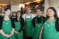 Dedication of Starbucks 25th Military Family Store