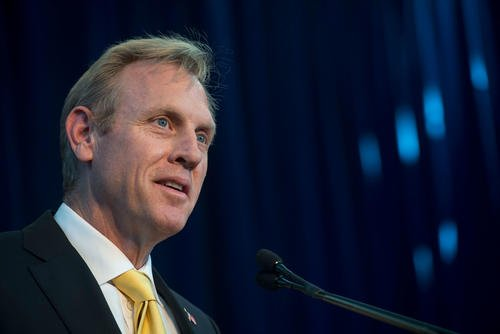 Deputy Secretary of Defense Patrick Shanahan speaks during the Defense Intelligence Agency change of directorship ceremony at Joint Base Anacostia-Bolling in Washington. D.C., Oct. 3, 2017. (DoD photo/Brigitte N. Brantley)